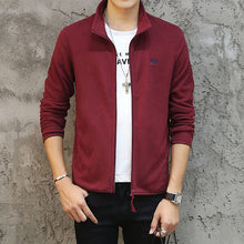 Mens Spring Jacket Casual Slim Fit Outerwear Fleece