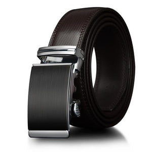 SFMW Men Leather Belt Ratchet Buckle Waist 30-44