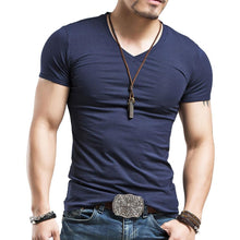 Men's V Neck Short Sleeve T shirt