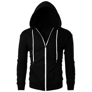 Mens Casual Slim Fit Long Sleeve Hoodie With Pocket