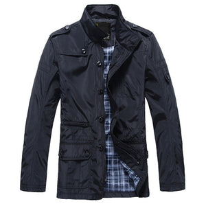Men Casual Warm Cotton Winter Coat