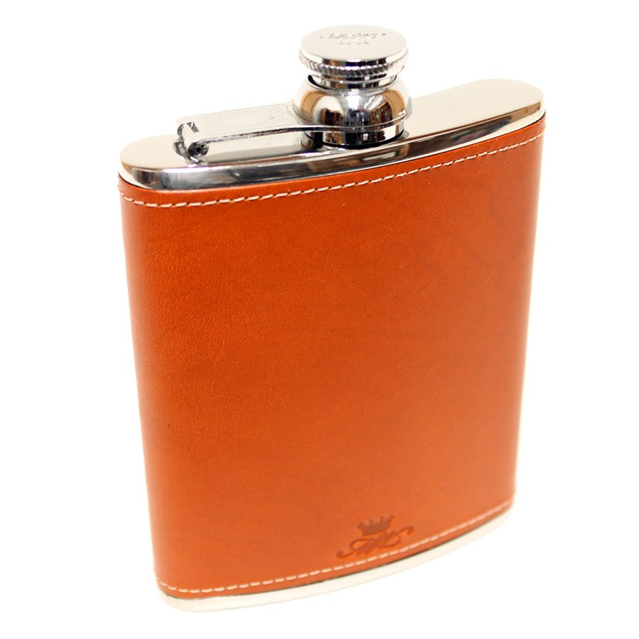 6oz Leather Tan Hip Flask