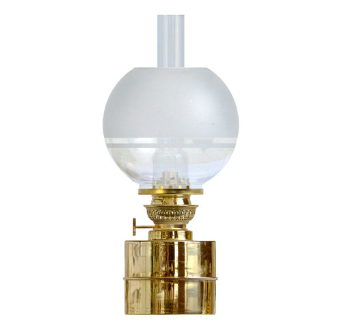 FLAGGSKÌR BRASS with 70 MM KEROSENE GLOBE