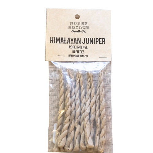 ROSEN BRIDGE Himalayan Juniper Rope Incense (Pack of 10 incenses)