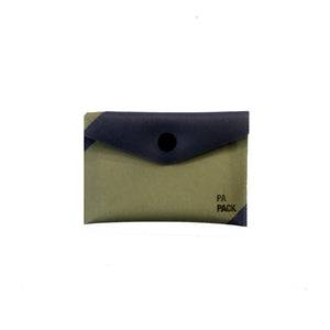Kiruna Papack Paper Card Case - Navy/Olive