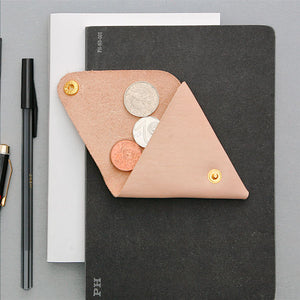 Kiruna Bonded Leather Coin Case - Beige