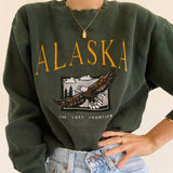 Forest Green Vintage Alaska Sweatshirt