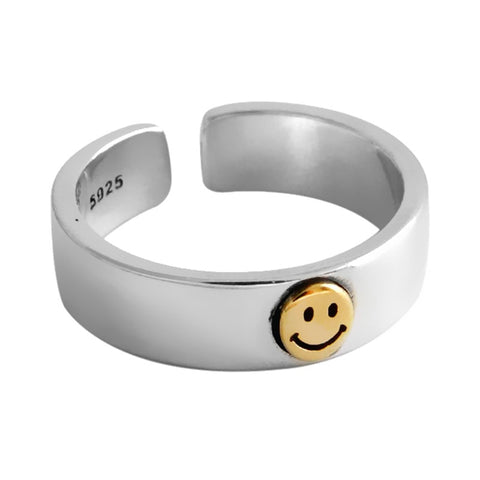 Be Happy Smiley Face Ring