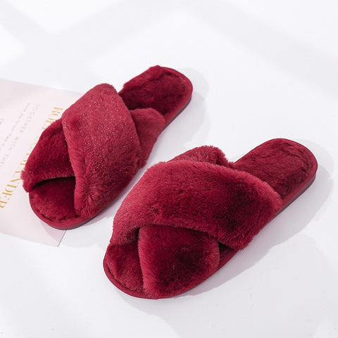 Winter Cozy Fuzzy Slippers