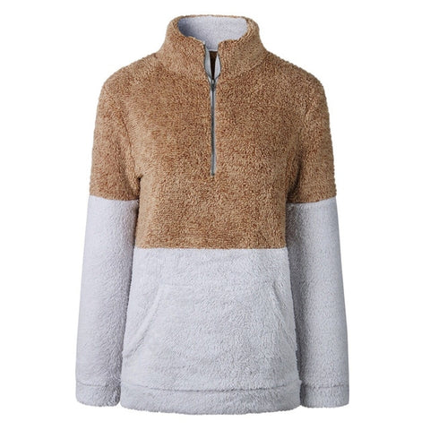 Let's Get Cozy Sherpa Pullover