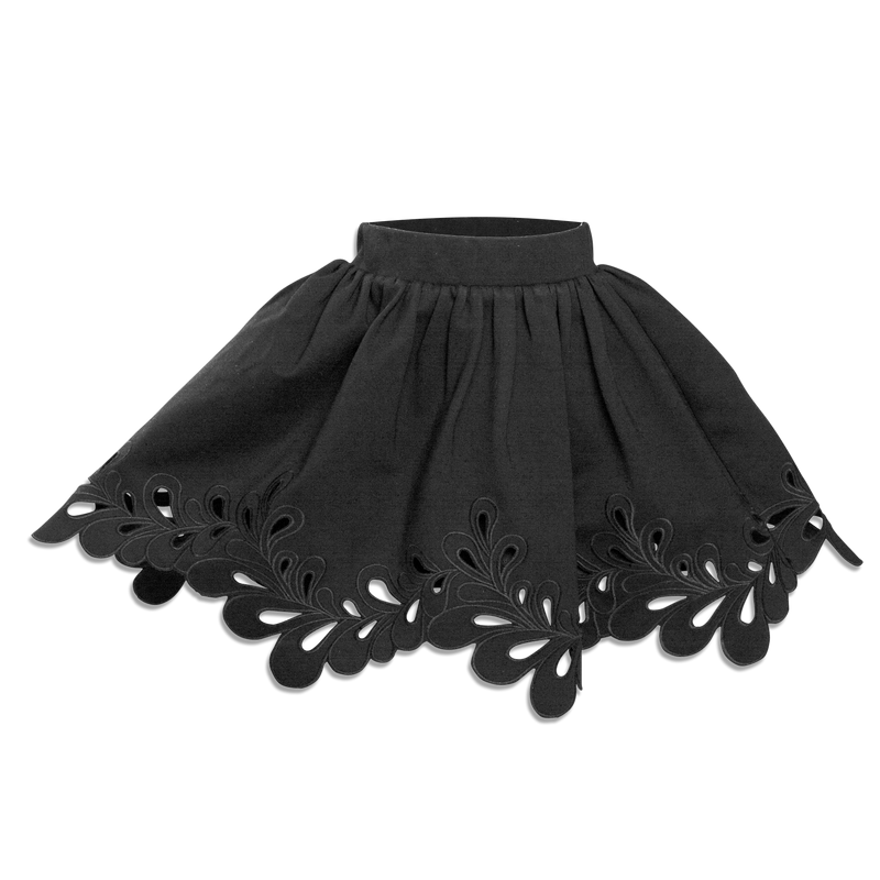 Cut Out Skirt Black