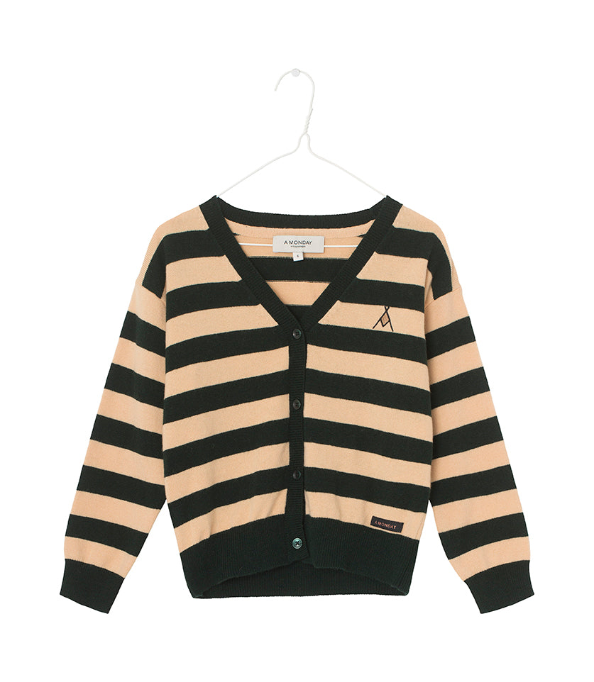 Bob cardigan Forest Biome Stripe