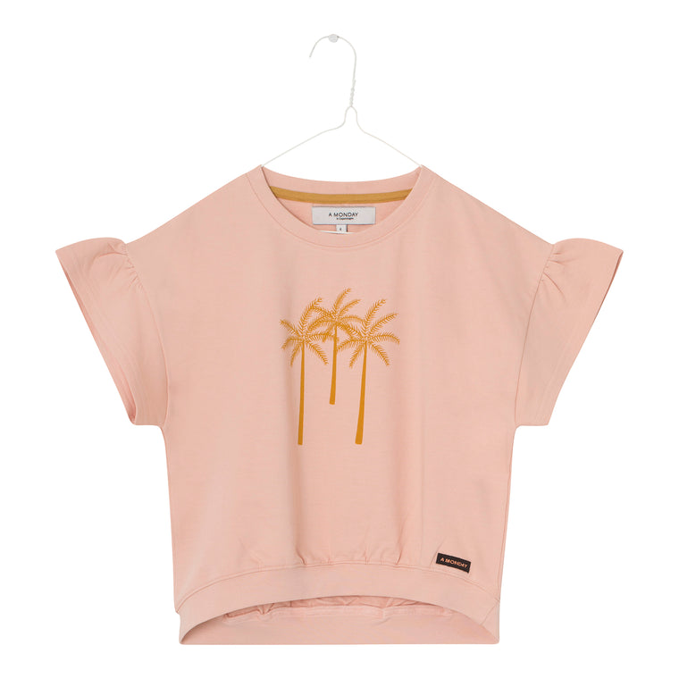 Sweater korte mouw Cameo rose