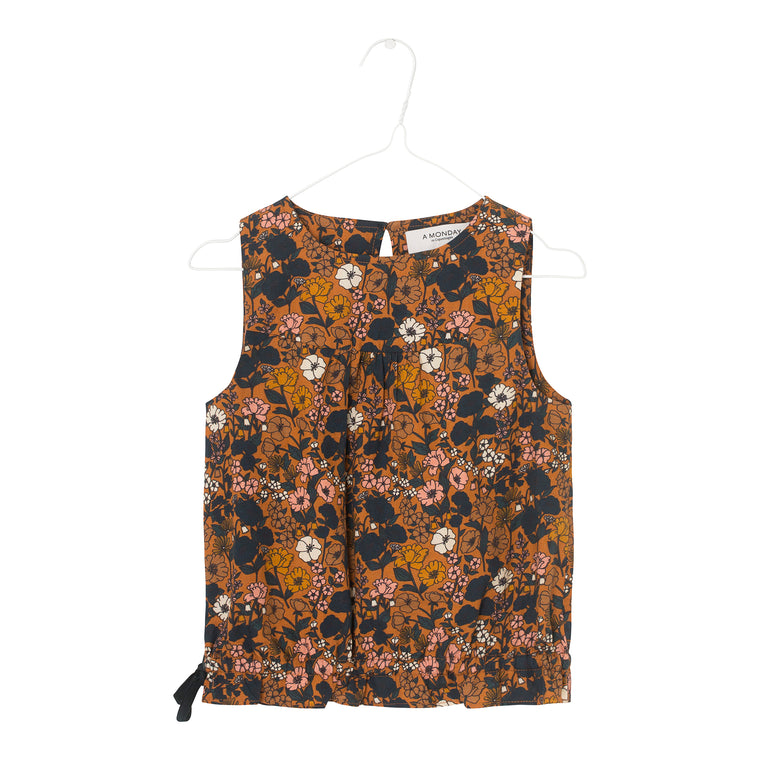 Lara top Tomato cream print