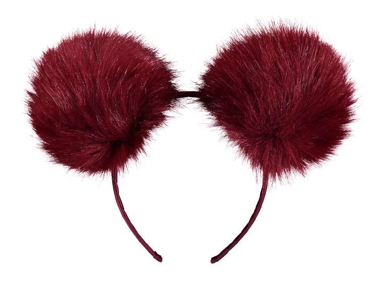 POM POM BAND Tibetan red