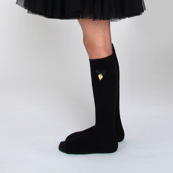 Charming Socks Jet black