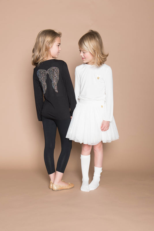 Crystal Wings Top Black