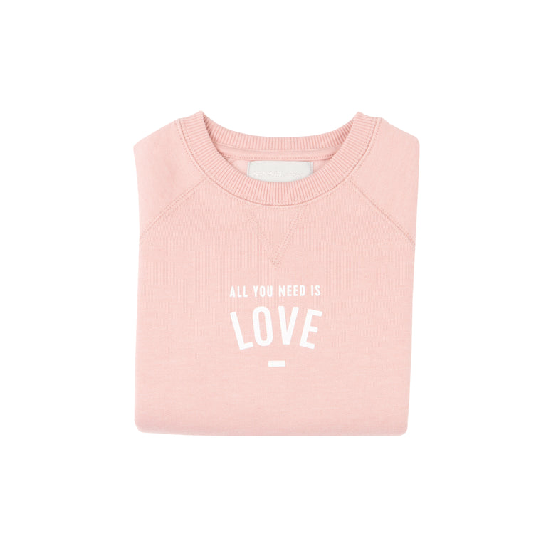 Pink 'All you need is love' Sweater