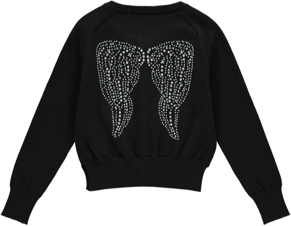 Micah Wings Cardigan Jet black