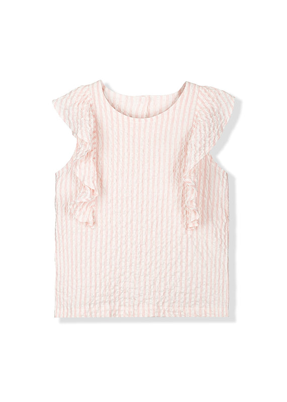 Rose Pier Ruffle Top