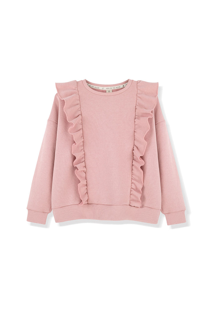 Mellow Rose Frill Sweatshirt