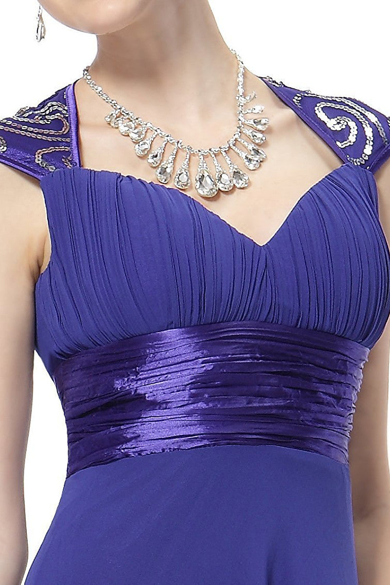 OKdress Chiffon Long Royal Blue Formal Prom Dress