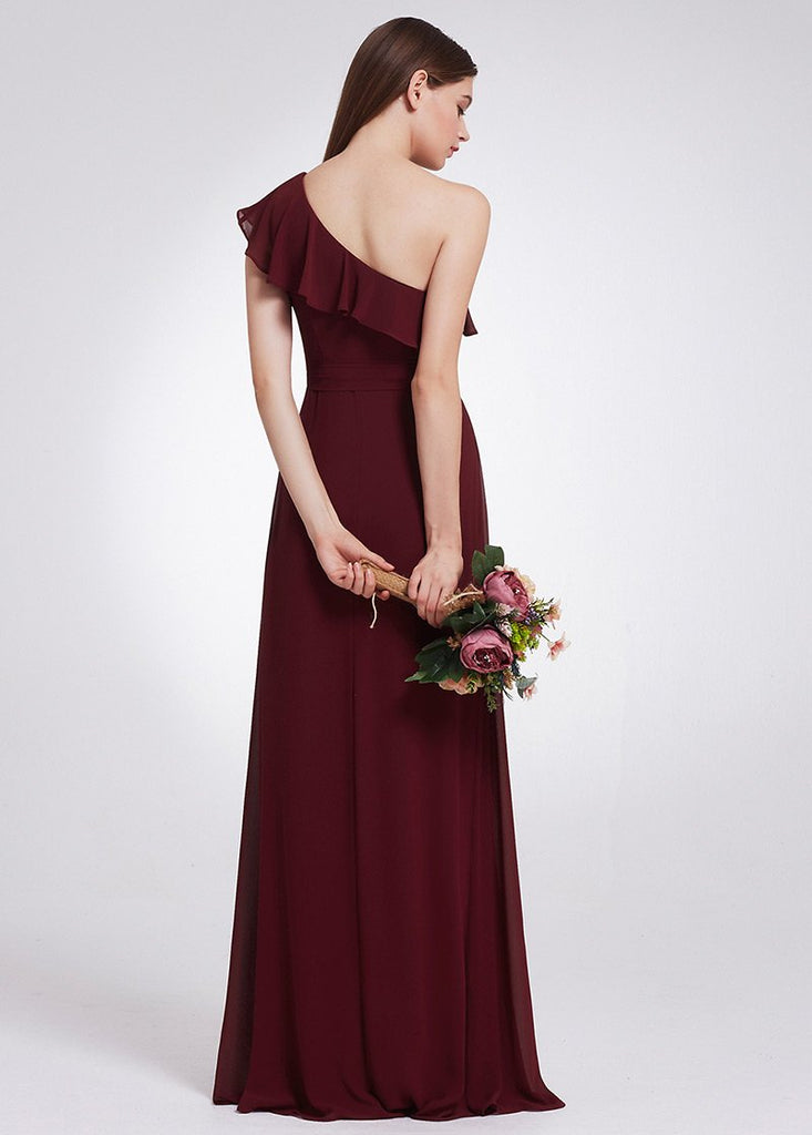 Stylish Burgundy Bridesmaid Dress