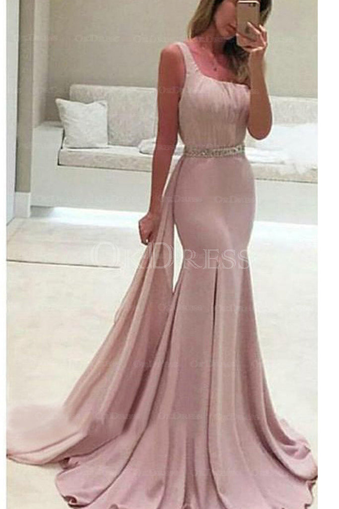 Enchanting Zipper Square Neckline Natural Chiffon Prom Dresses