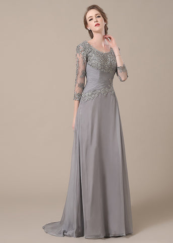 Enthusiastic Chiffon Floor-length Zipper Mother of the Bride Dresses