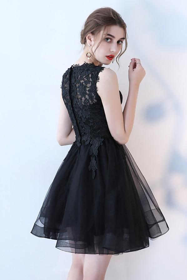 Sleeveless Black Bridesmaid Dresses