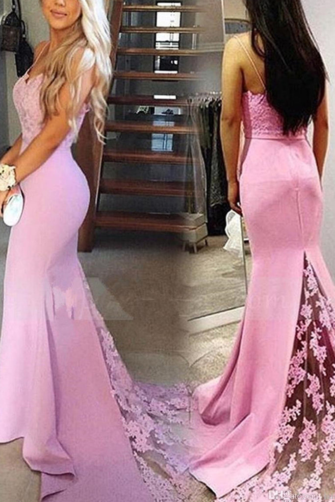 Mature Trumpet/Mermaid Spaghetti Straps Sleelvess Evening Dresses