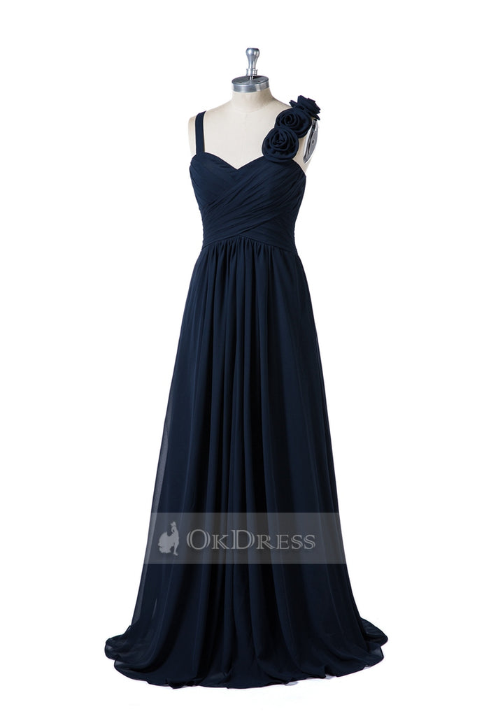 Sweetheart A-Line Bridesmaid Dress with Flowers