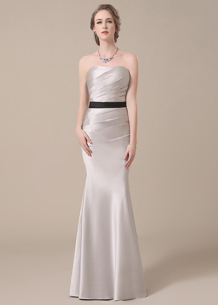 Eye-catching Satin Natural Trumpet/Mermaid Bridesmaid Dresses