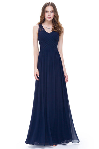 A-Line/Princess Chiffon Floor-Length Evening Dresses