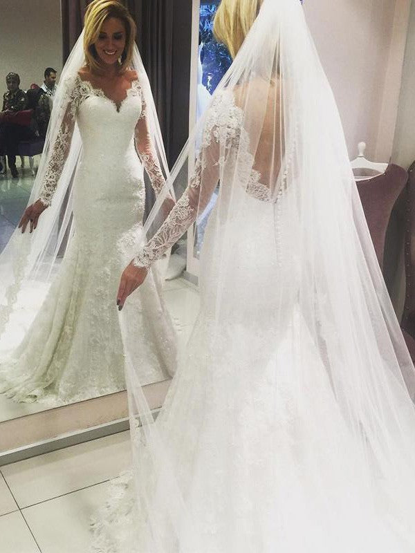White Bespoke Floor-length Sweetheart Zipper Wedding Dresses