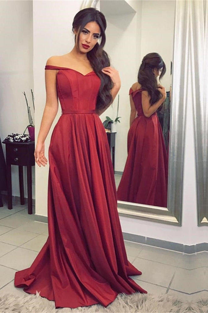 Luxurious Off-the-shoulder A-line Prom Dresses