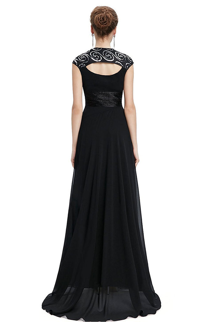 OKdress Chiffon Long Black Formal Prom Dress