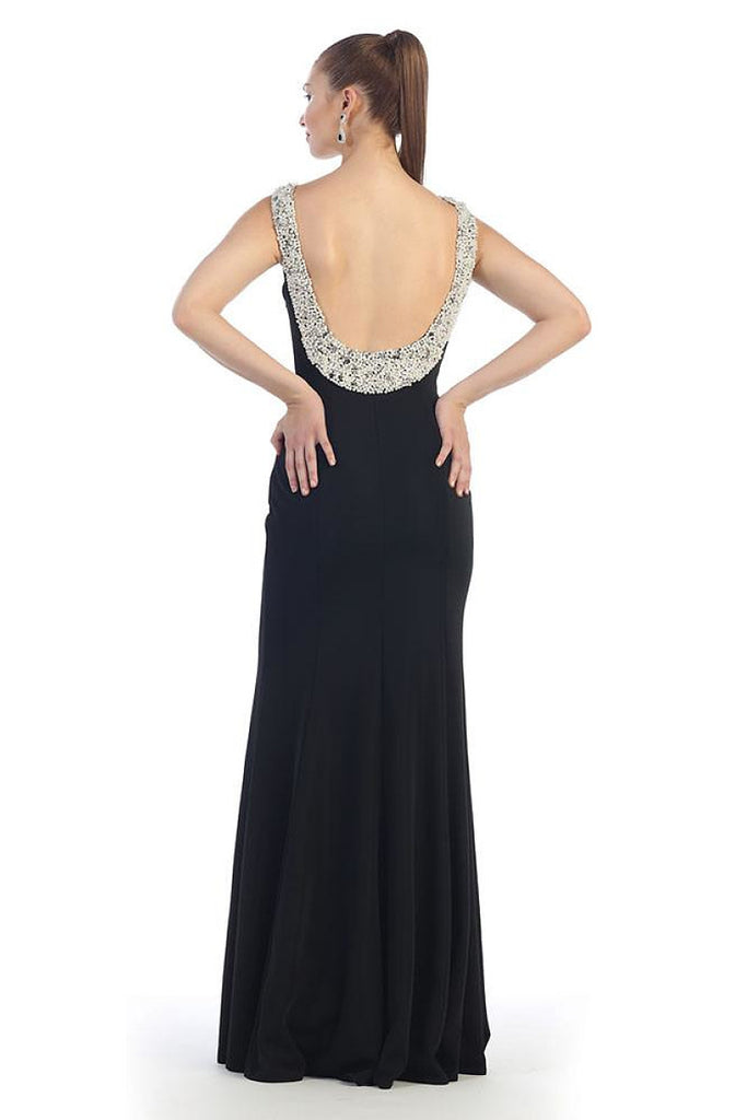 Black Long Prom Dresses Evening Party Formal Gown