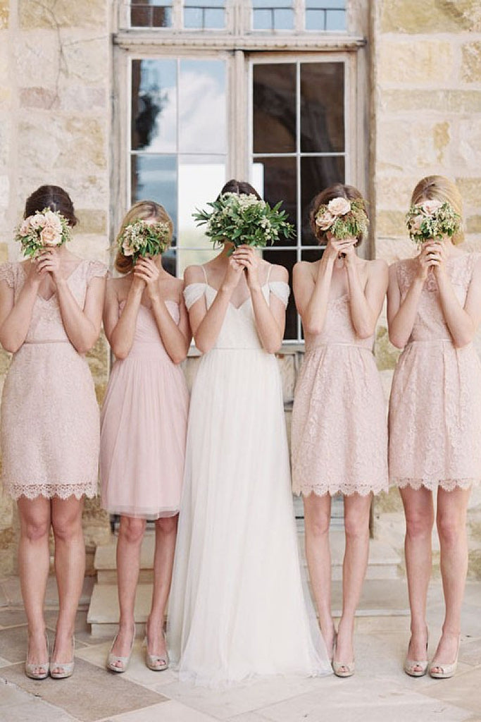 Timeless Sleeveless Short/Mini Zipper V-neck Bridesmaid Dresses