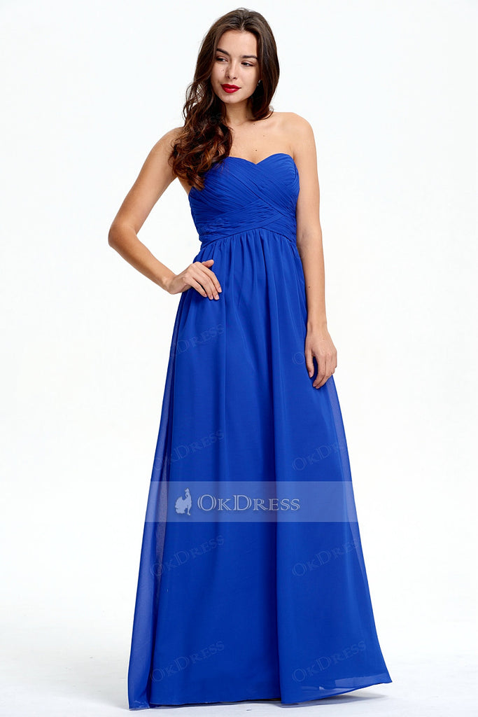 New Arrival Chiffon Sweetheart A-line Floor-length Bridesmaid Dress