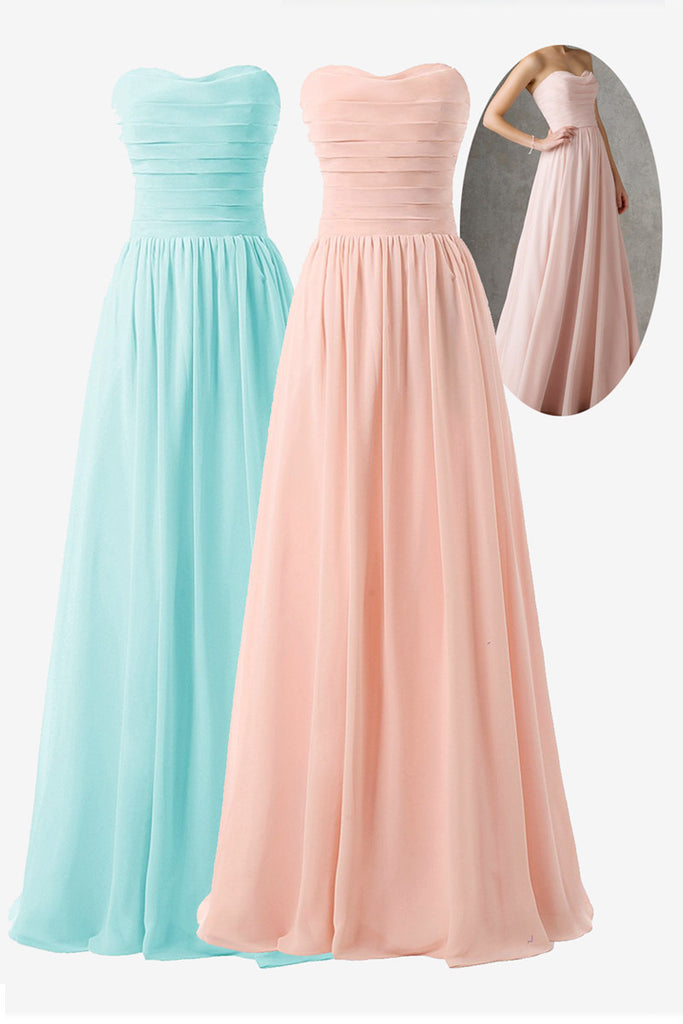 209 Pretty Pearl Pink A-line Sweetheart Bridesmaid Dresses
