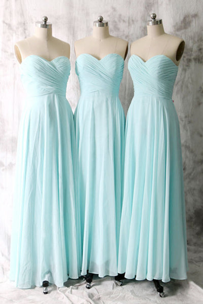 Extravagant Sweetheart Sleeveless Ruffles Sky Blue Bridesmaid Dresses