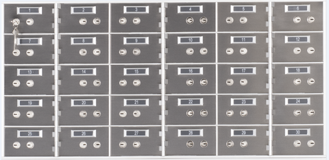 "SafeandVaultStore AA-35 Safe Deposit Boxes (30 - 3"" x 5"" Openings)"