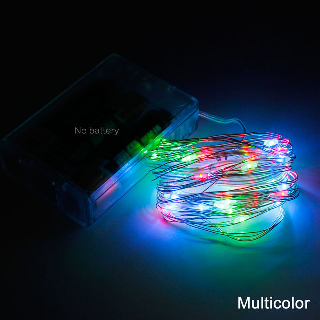 Silver Wire String LED Lights