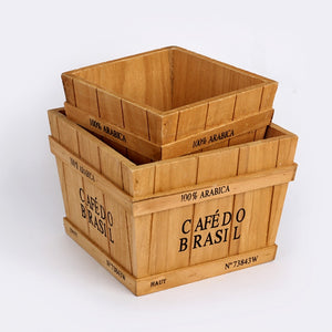 Retro Wooden Plant container