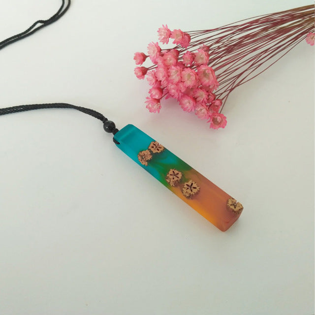 Wood and Resin Necklaces & Pendants Collection 2