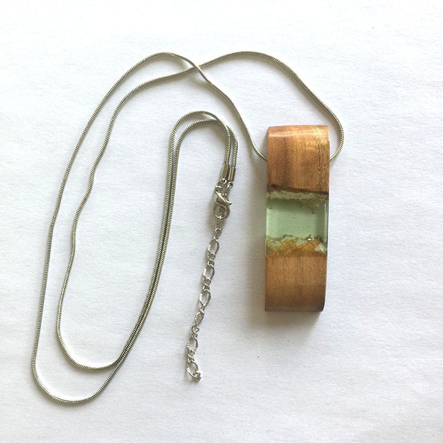 Wood and Resin Necklaces & Pendants Collection 1