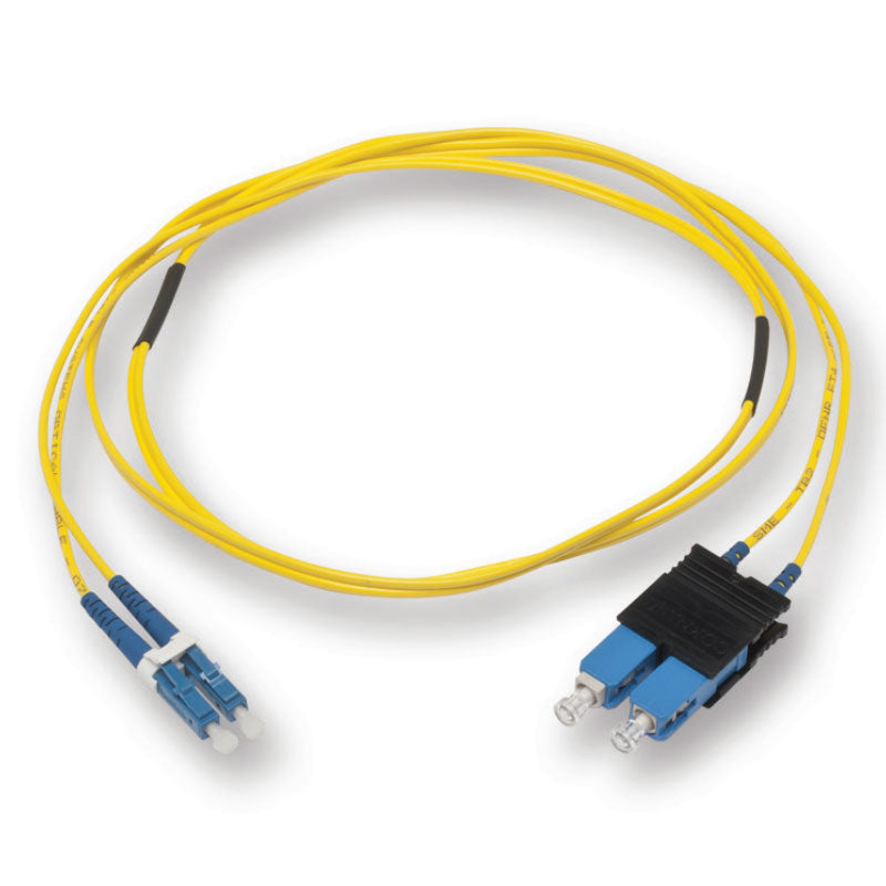 (10m) LC/UPC - SC/UPC Single Mode Fiber Optic Duplex Patch Cord - 1.8mm LSZH