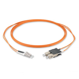 (15m) LC/PC - SC/PC Multimode OM1 Fiber Optic Duplex Patch Cord - 2mm LSZH