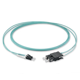 (2m) LC/PC - SC/PC Multimode OM3 Fiber Optic Duplex Patch Cord - 1.8mm LSZH
